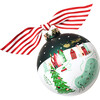Town Square Glass Ornament, Red - Ornaments - 1 - thumbnail