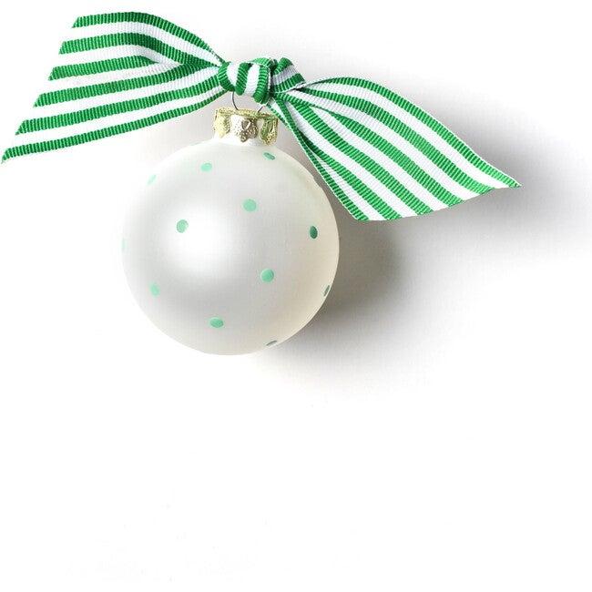 Special Teacher Glass Ornament, White