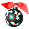 Boughs of Holly Glass Ornament, Green - Ornaments - 1 - thumbnail