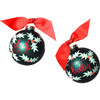 Boughs of Holly Glass Ornament, Green - Ornaments - 2