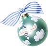 Around The World Plane Glass Ornament, Blue - Ornaments - 1 - thumbnail