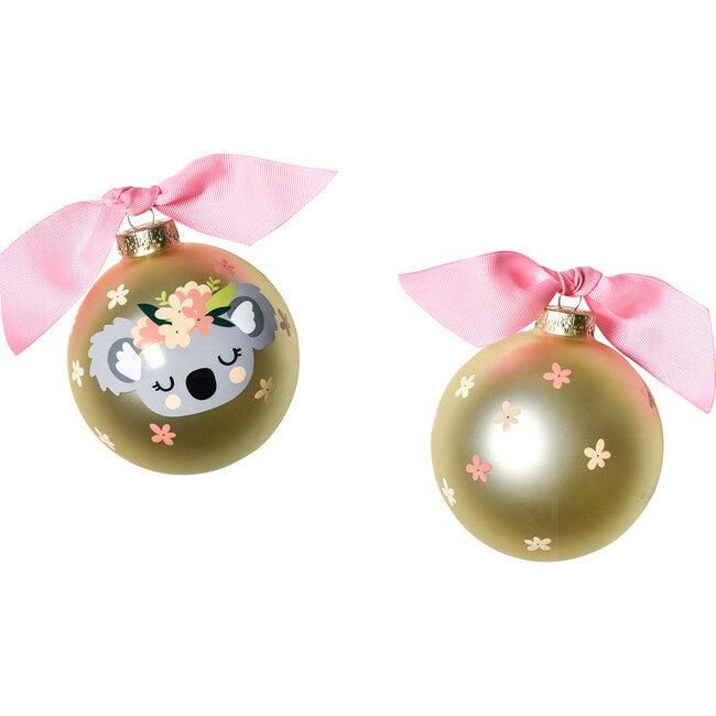 Koala Glass Ornament, Gold