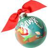 Dinosaur Glass Ornament, Green - Ornaments - 1 - thumbnail