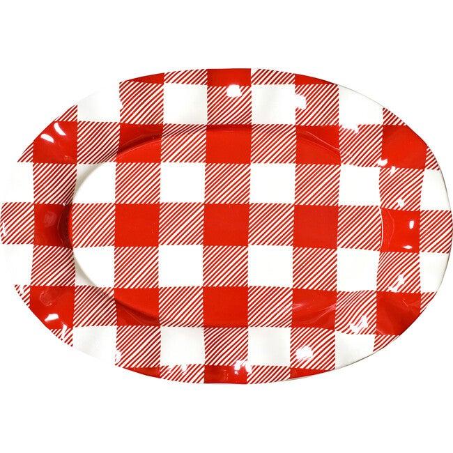 Buffalo Ruffle Oval Platter, Red