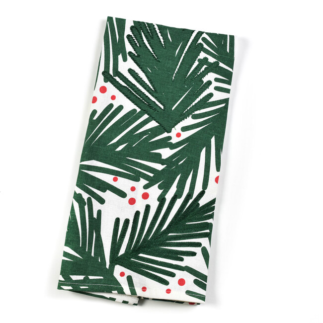Large Balsam & Berry Tree Hand Towel, Green