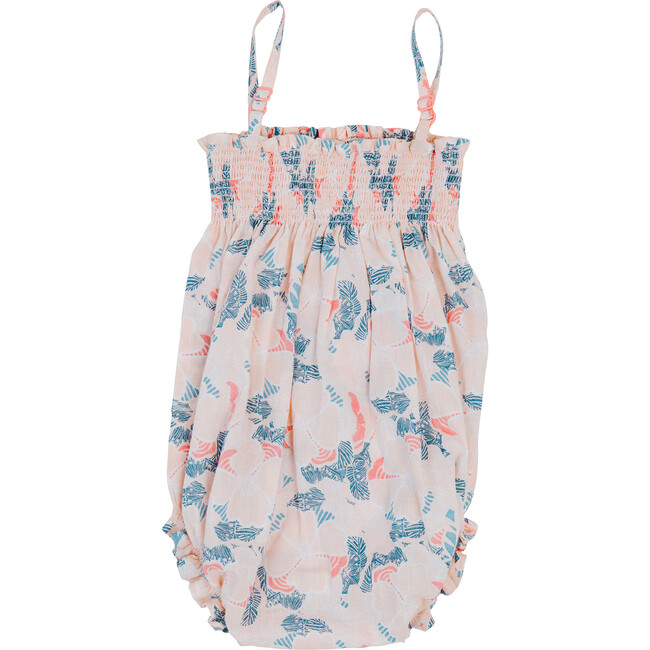 Sonny Smocked Bubble, Hibiscus
