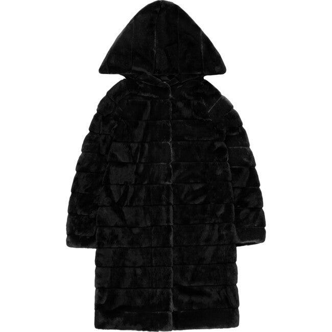 Women's Celina Faux Fur Jacket, Noir