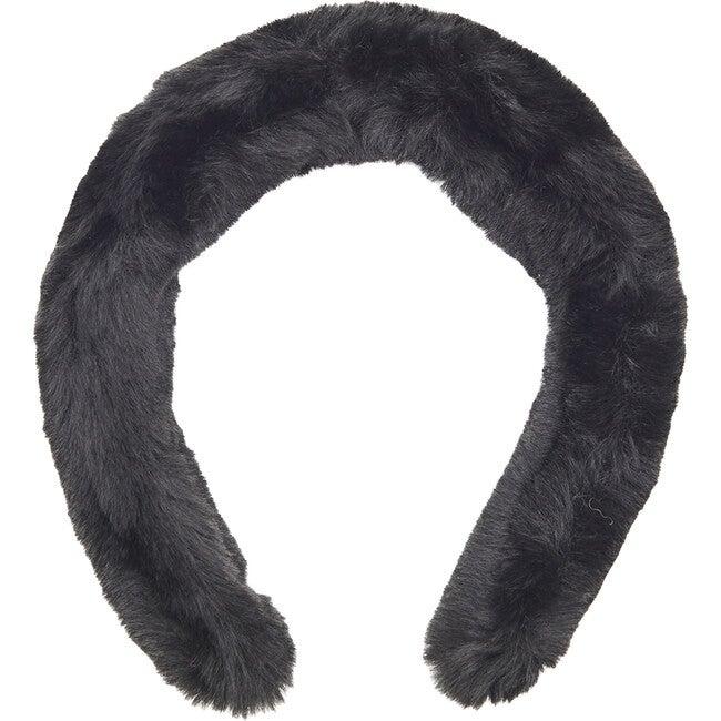 Teffi Faux Fur Headband, Noir