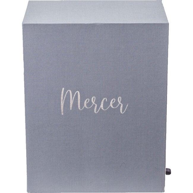 Exclusive Monogrammable Mercer Baby Keepsake Box, Slate