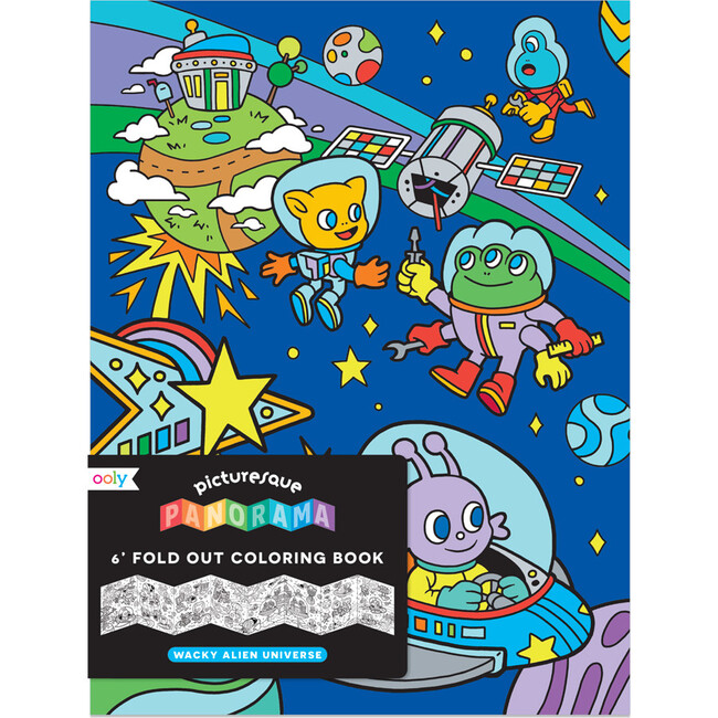 Picturesque Panorama Coloring Book, Wacky Alien Universe