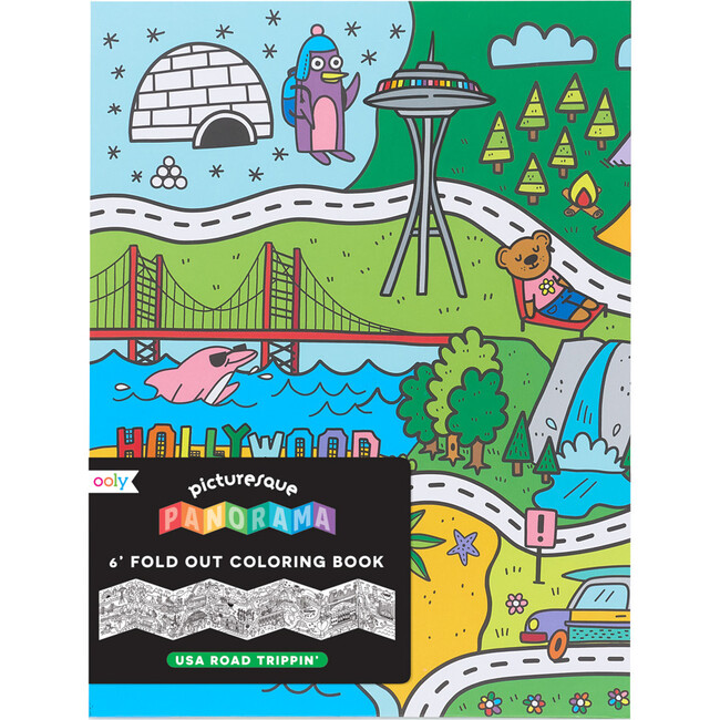 Picturesque Panorama Coloring Book, U.S.A Road Trippin'