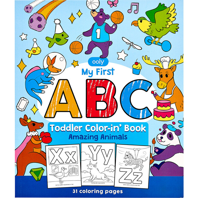 ABC: Amazing Animals Toddler Coloring Book
