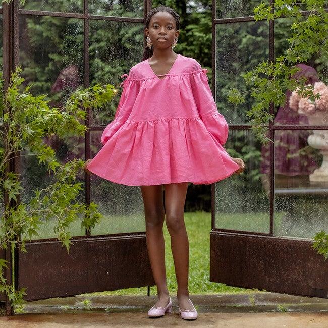 Rosemary Linen Dress, Pink