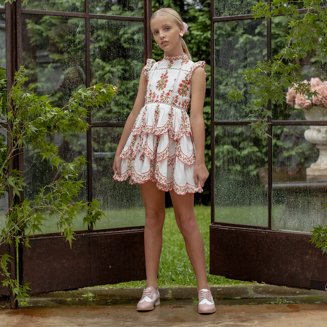 Alyssa Embroidered Dress, Ivory