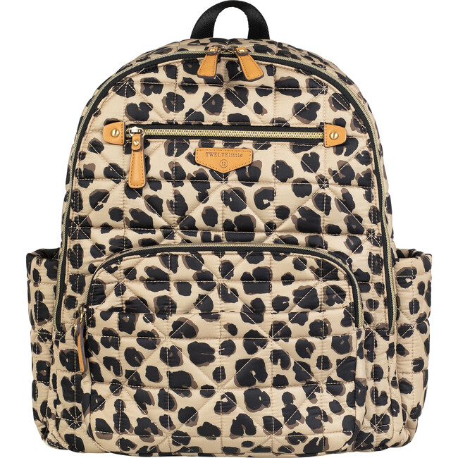 Quilted Companion Diaper Backpack, Leopard