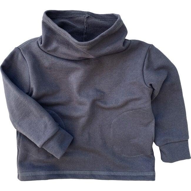 Cowl Neck Organic French Terry Sweatshirt, Graphite