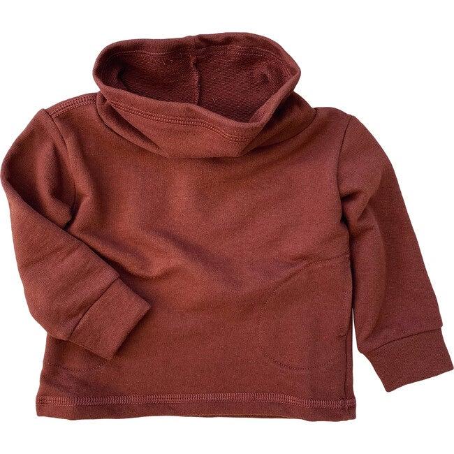 Cowl Neck Organic French Terry Sweatshirt, Chestnut