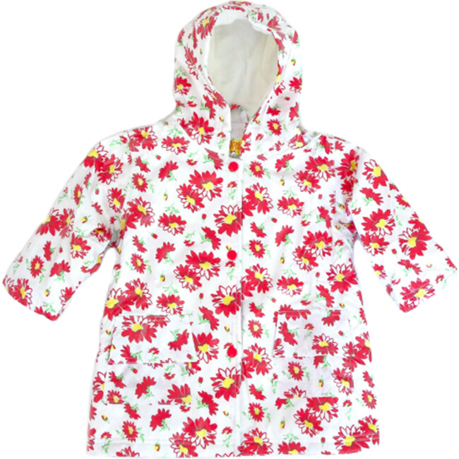 Raincoat with Lining, Red Flower