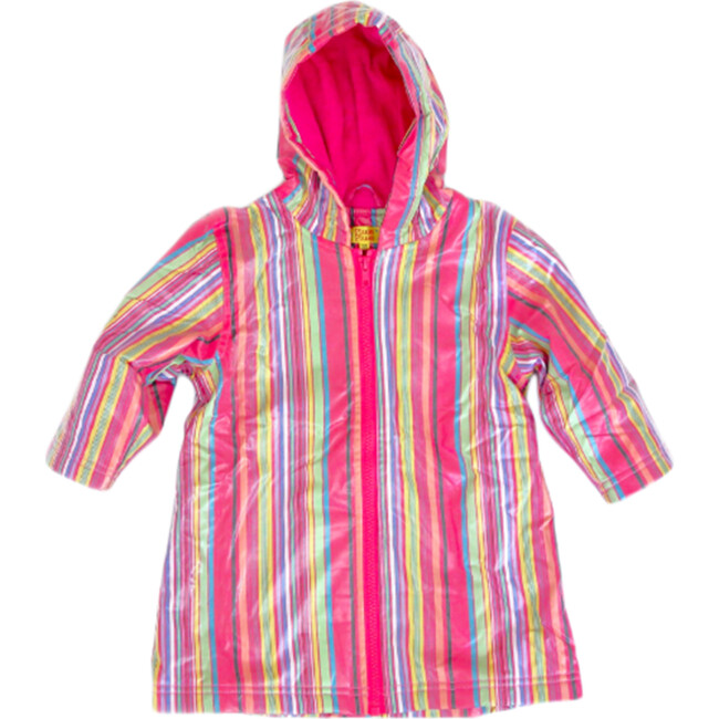 Raincoat with Lining, Pink Stripe
