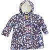 Raincoat with Lining, Navy Flower - Raincoats - 1 - thumbnail