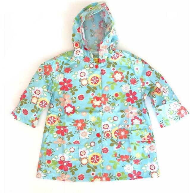 Raincoat Shell, Blue Floral