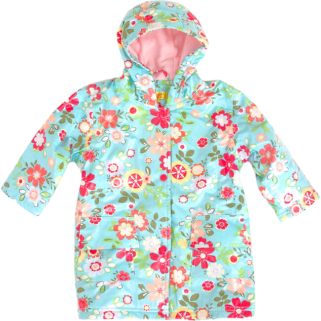 Raincoat with Lining, Blue Floral