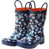 Rain Boots, Navy Flower - Boots - 1 - thumbnail