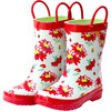 Rain Boots, Red Flower - Boots - 1 - thumbnail