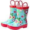 Rain Boots, Blue Floral - Boots - 1 - thumbnail