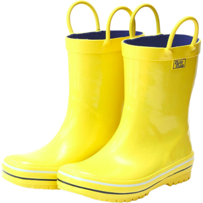 Rain Boots, Solid Yellow