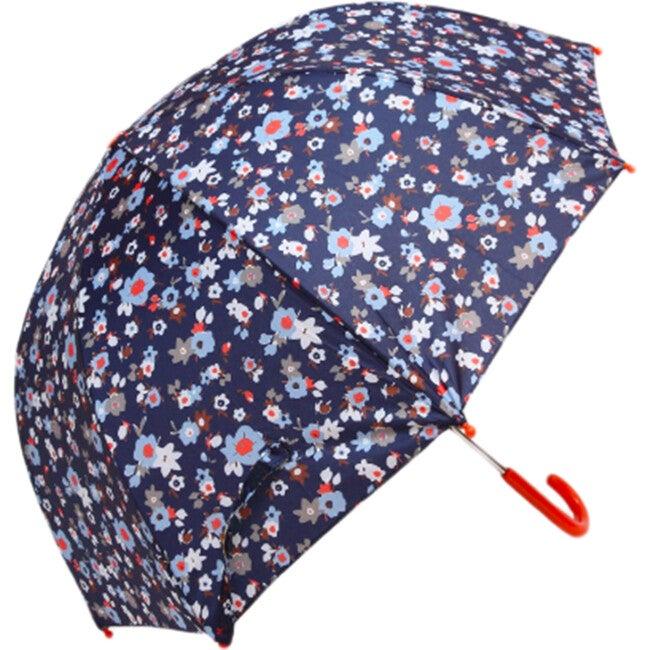 Umbrella, Navy Flower - Umbrellas - 1