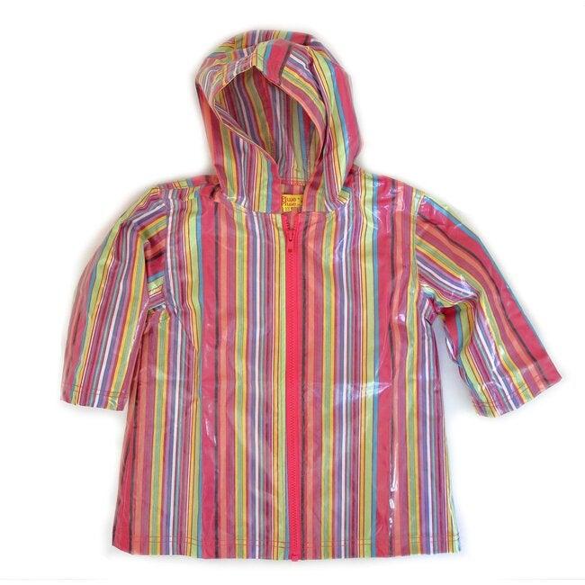 Raincoat Shell, Pink Stripe