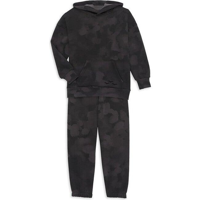 The Niki & Cooper Fleece Set, Black Sponge