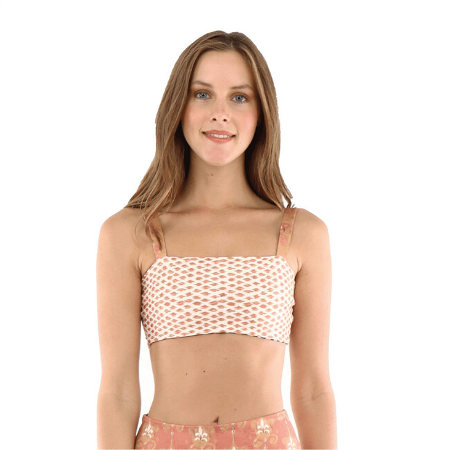 Alba Dominica Reversible Bandeau Top, Black and White