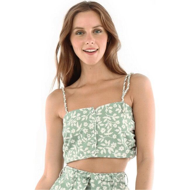 Maria Mali Crop Top, Green