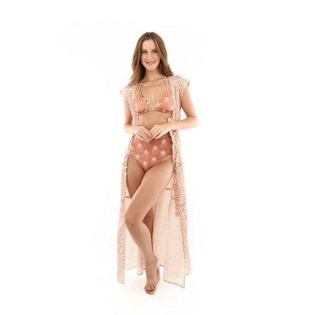 Alba Britania Long Kimono, Pink