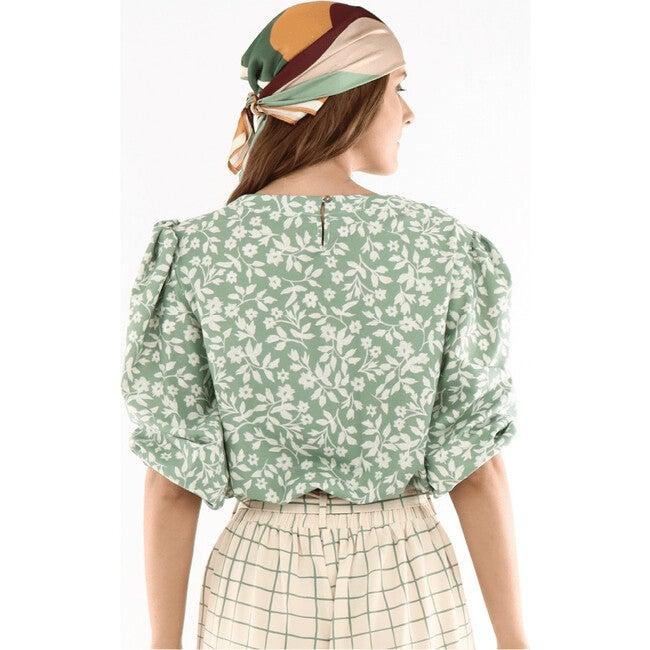 Maria Helen Crop Top, Green