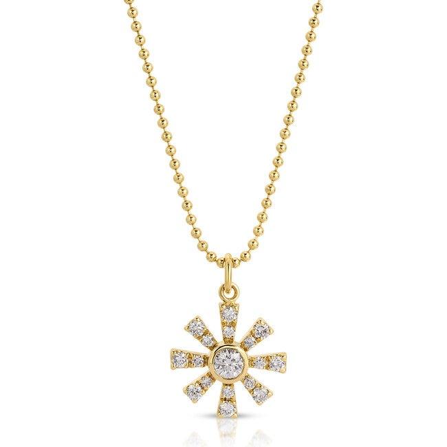 Women's Large Diamond Sunshine Necklace - Necklaces - 1