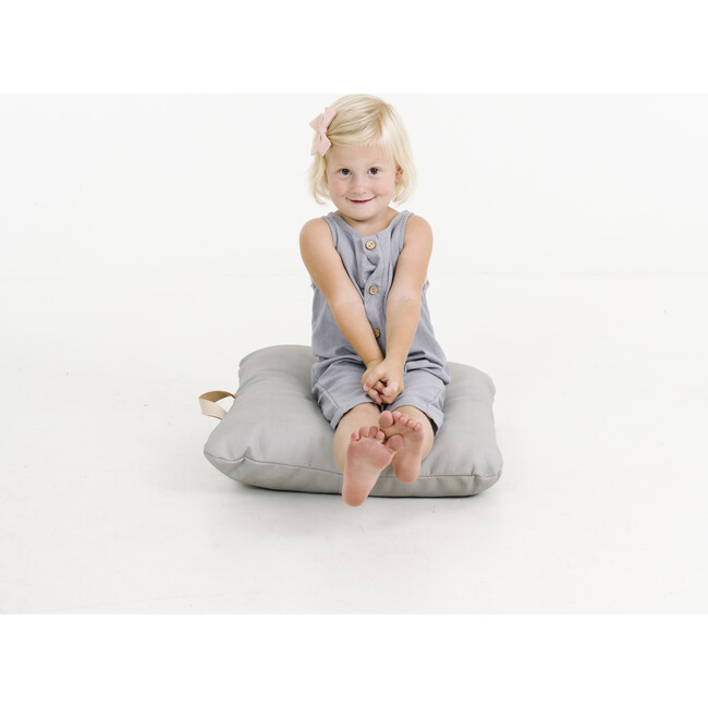 Mini Square Floor Cushion, Pewter