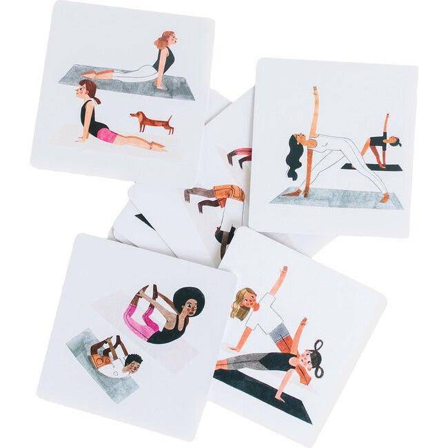 Set of Yoga Information Cards, White