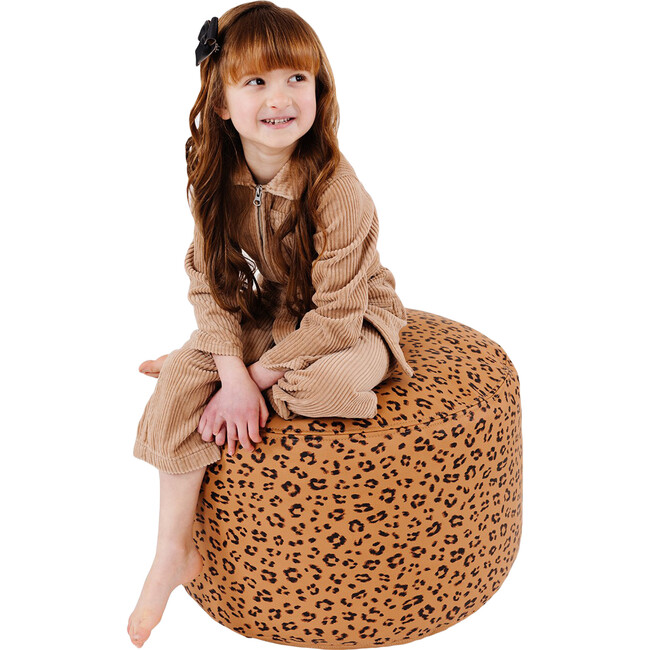 Round Pouf, Leopard