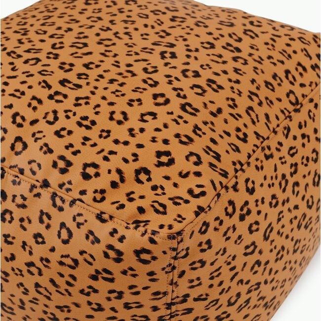 Square Pouf, Leopard