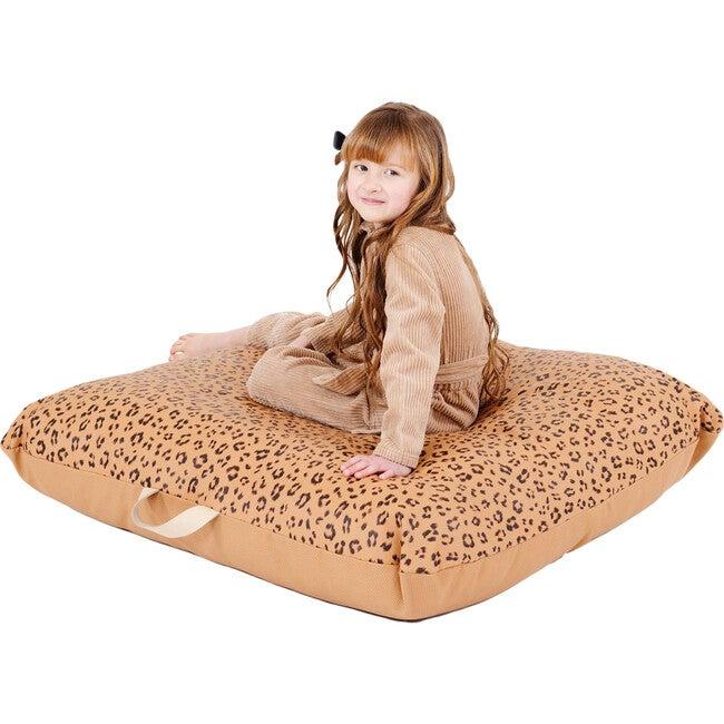 Square Floor Cushion, Leopard