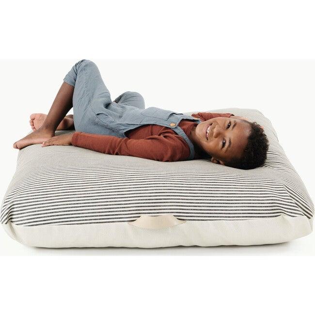 Square Floor Cushion, Stone Stripe