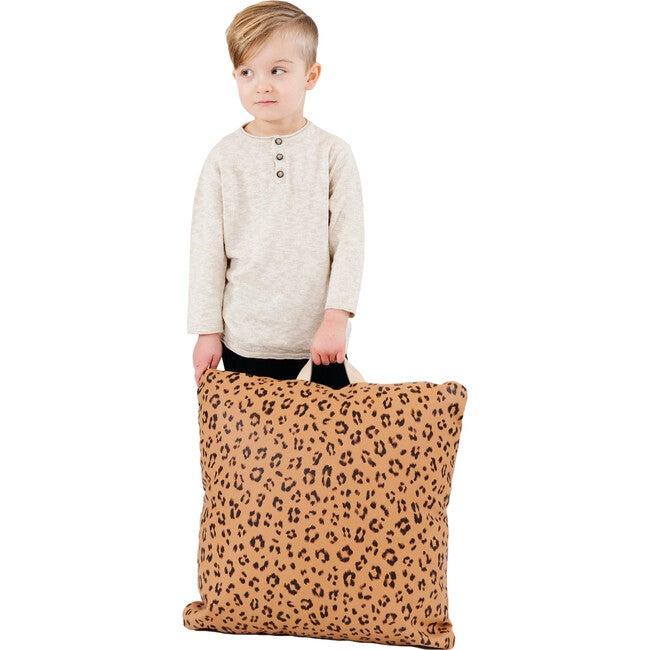 Square Mini Floor Cushion, Leopard