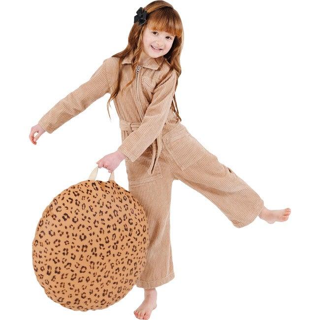 Circle Mini Floor Cushion, Leopard
