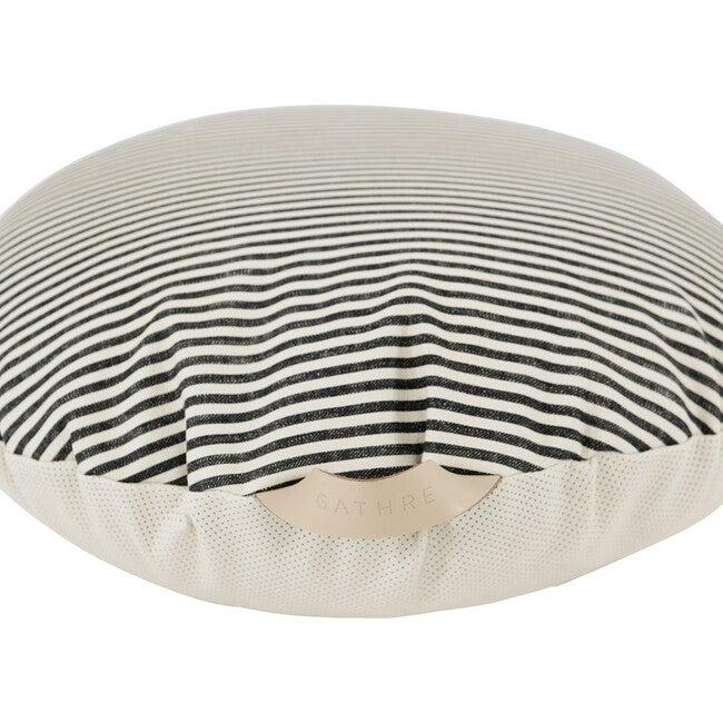 Circle Floor Cushion, Stone Stripe