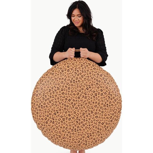Circle Floor Cushion, Leopard