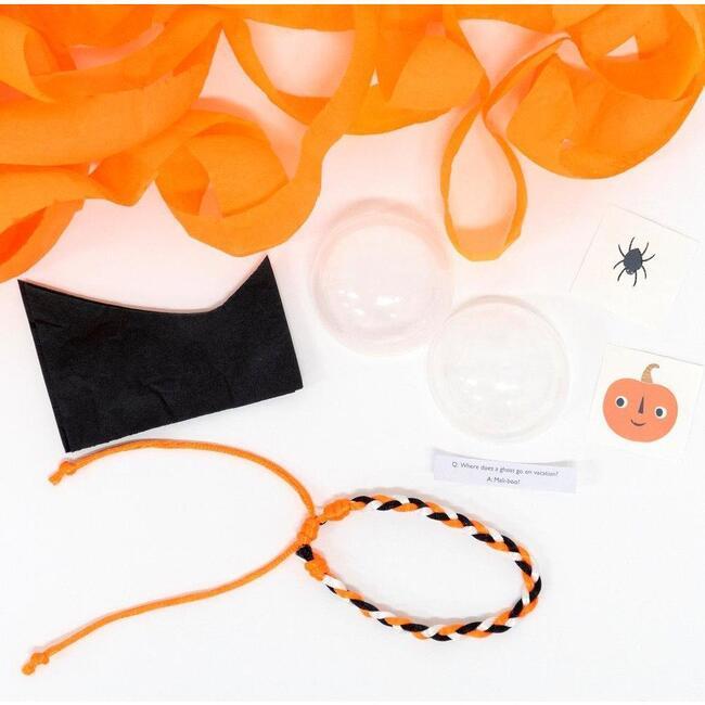 Set of 4 Vintage Halloween Surprise Balls, Orange Multi