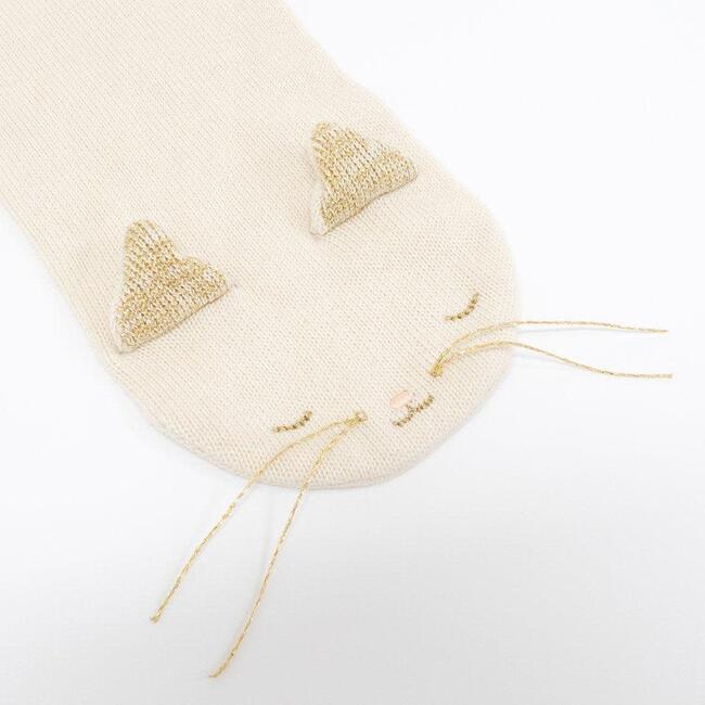 Knitted Kitten Scarf, Cream